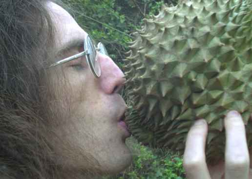 Man meets durian